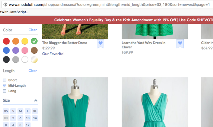 Gree, Mid-Length Dresses from Modcloth