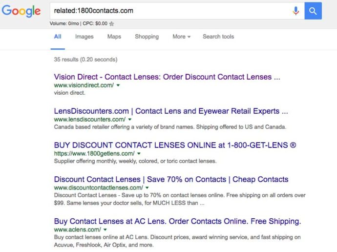 Related from Google for 1800Contacts