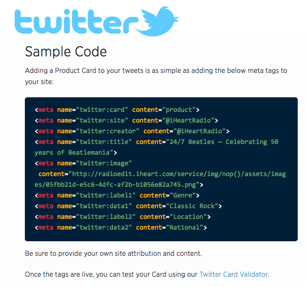 twitter cards code