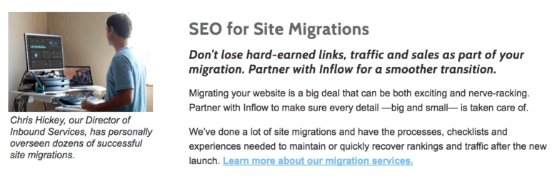 Site Migrations Screenshot - Desktop