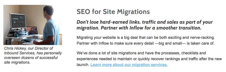 Site Migrations Screenshot - Desktop