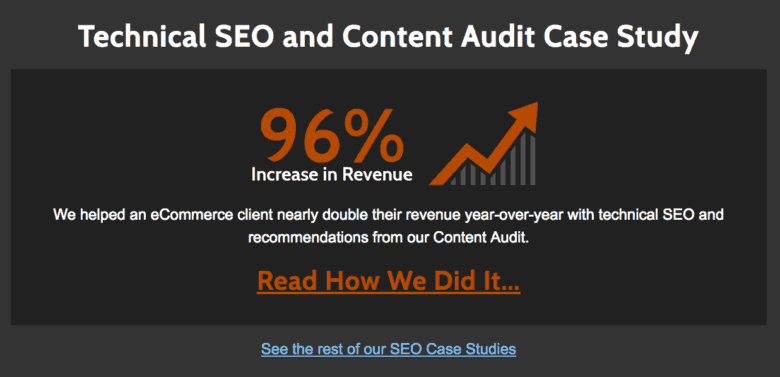 SEO Case Study Screenshot - Desktop
