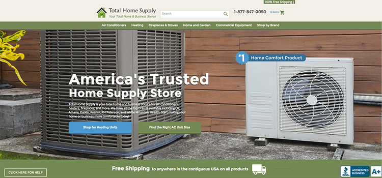 Total Home Supply PPC Case Study Screenshot
