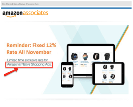 Native Ad from Amazon