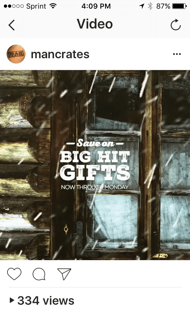 instagram mancrates video