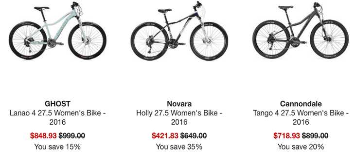 REI Sale prices called out