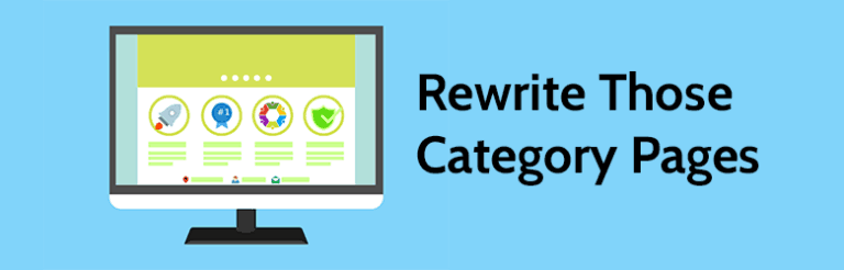 Rewrite those category pages.
