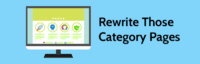 rewrite those category pages