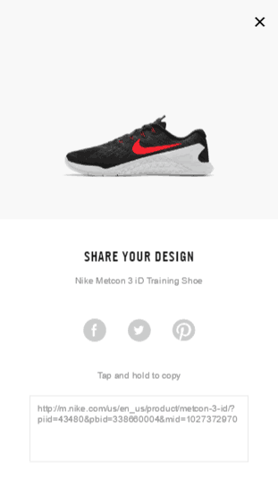 Nike mobile shopping