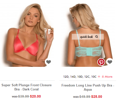 brasNthings product options