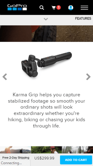 gopro products on mobile