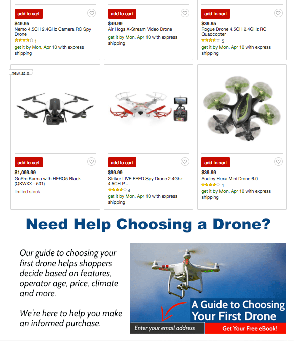 Buying Guide Content for Drones