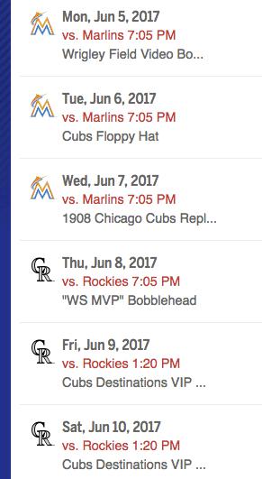 Chicago Baseball Schedule