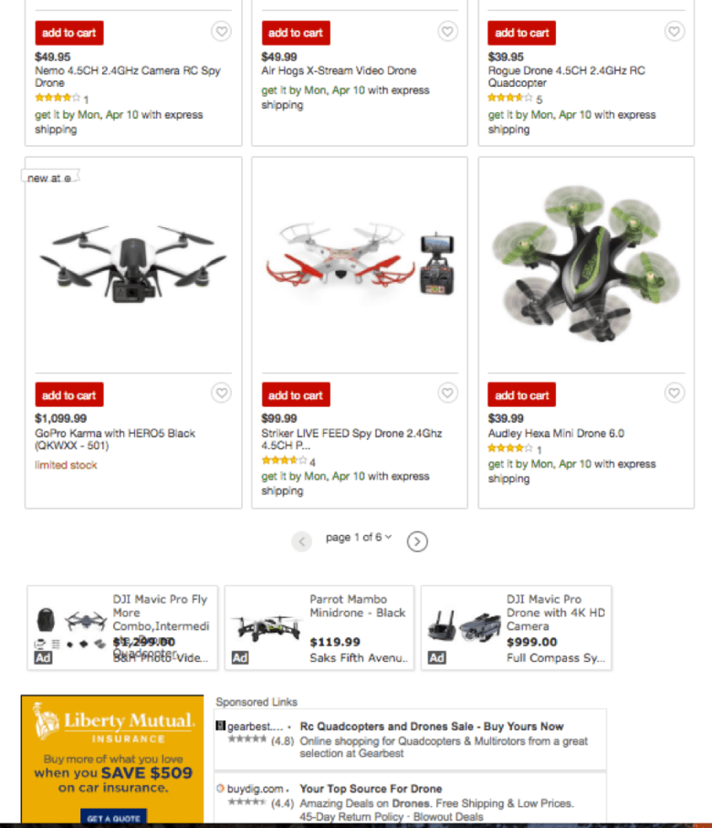 Target's Drone Category Before