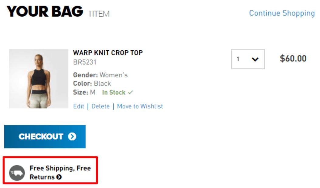 Adidas.com Repeat Main Value Proposition Screenshot
