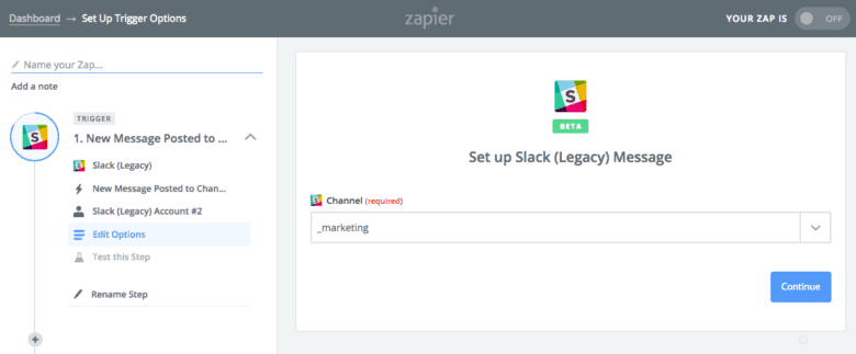 Using Slack to Automate Social Content Curation - Step 3