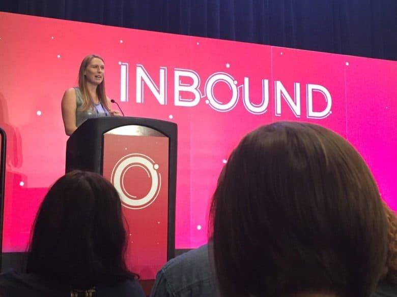 Casandra Campbell - Inbound Presentation Image via Katherine Hayes on Twitter)