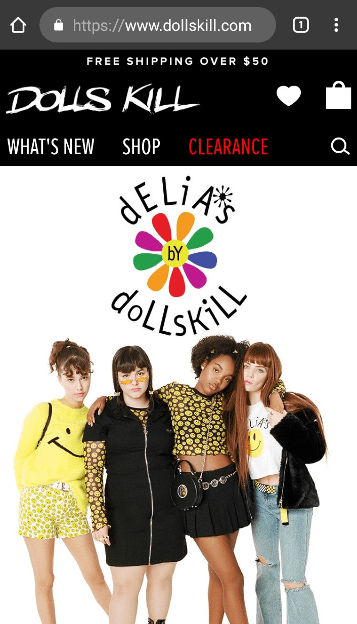 DollsKill Mobile Screenshot