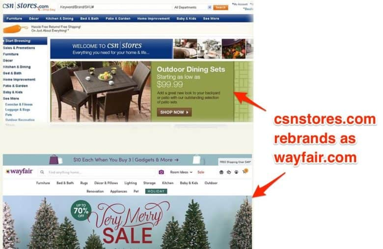 eCommerce redesign best practices: a site redesign is a great option during a rebrand.