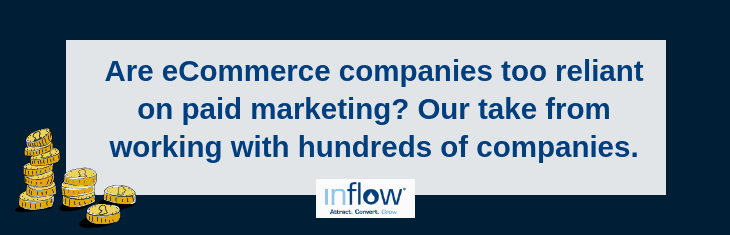 Are eCommerce companies too reliant on paid marketing? Our take from working with hundreds of companies.