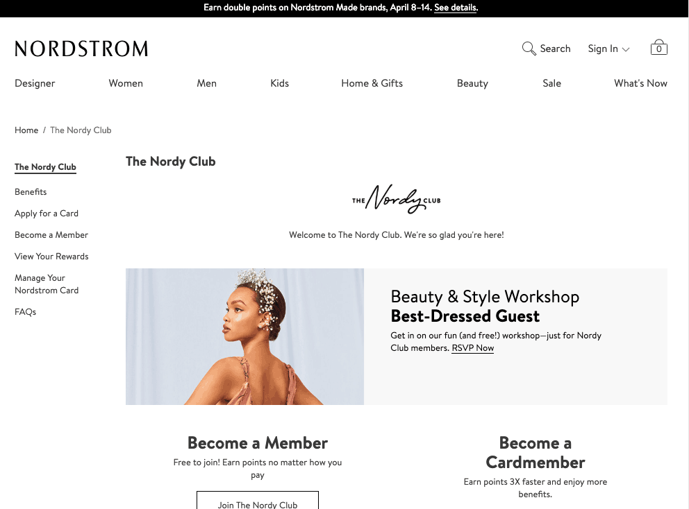 List Growth Strategies - Inline Offers - Nordstrom.com