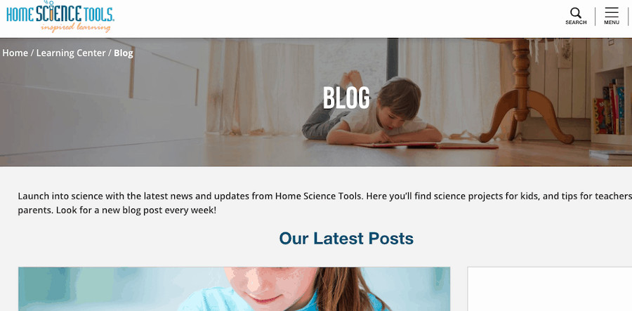 We did a content audit of Home Science Tools Blog