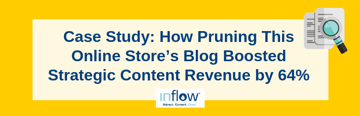 Case Study: How Pruning This Online Store's Blog Boosted Strategic Content Revenue by 64%