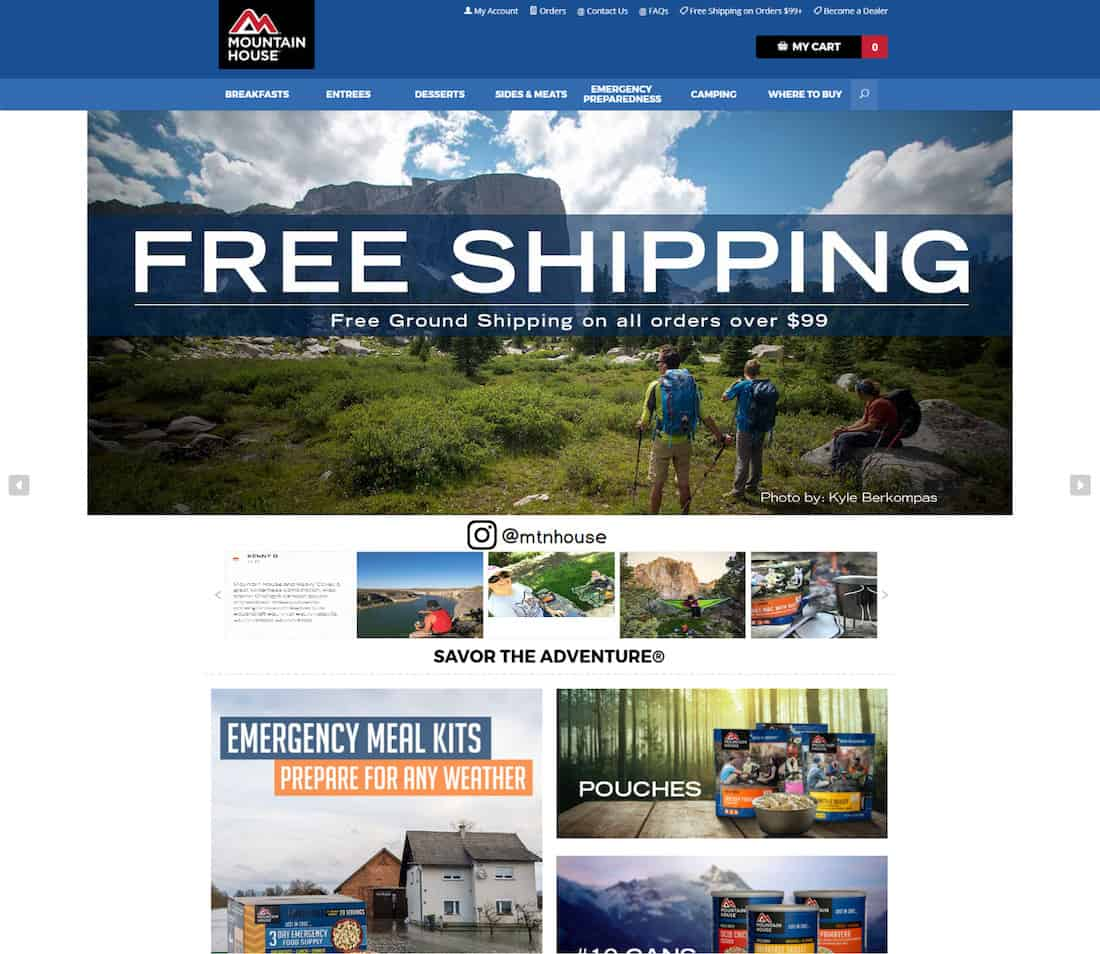 Mountain House added user generated content to just about every category page.