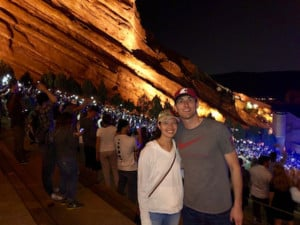 Andrew Halfman with wife at Red Rocks.
