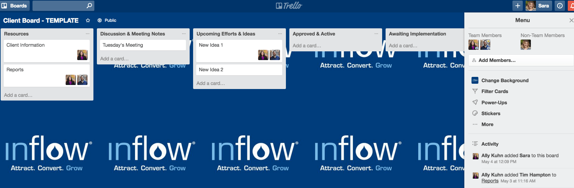 Setting up a user on Trello | Client board template