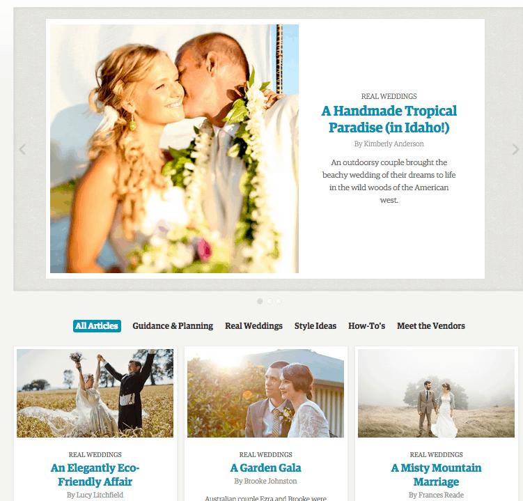 Etsy Wedding Screenshot