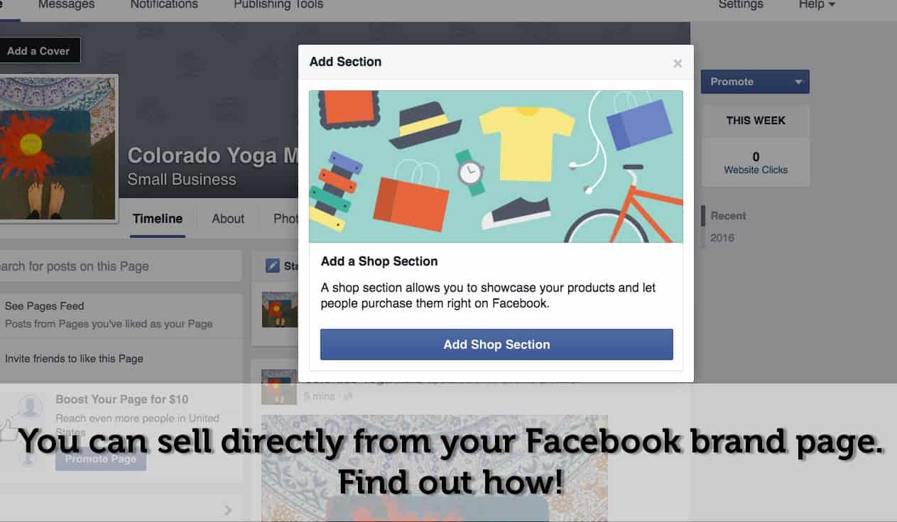 Add a Facebook Shop