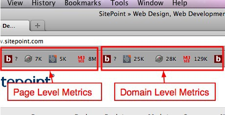 seobook toolbar link to page & domain