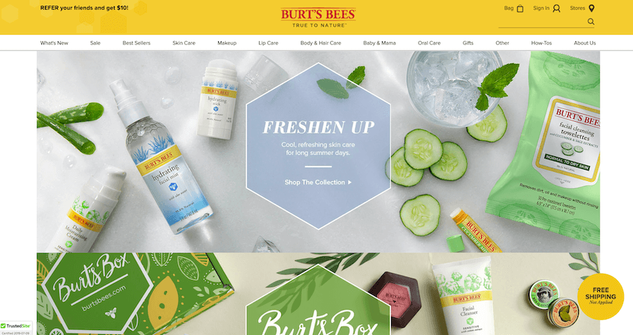 Burt's Bees saw an increase in conversions by switching their trust seal to TrustedSite.