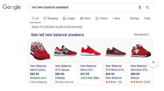 "Google Search Results for ""Red New Balance Sneakers"""