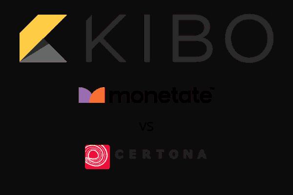 KIBO Monetate vs KIBO Certona