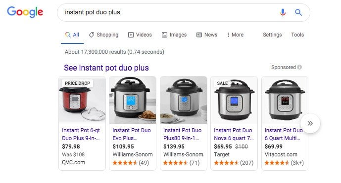 """instant pot duo plus"" Google search results"