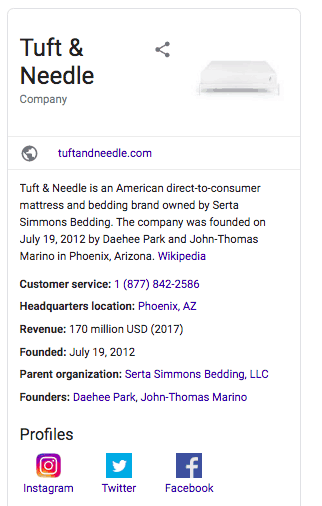 Tuft&Need Google Business Information