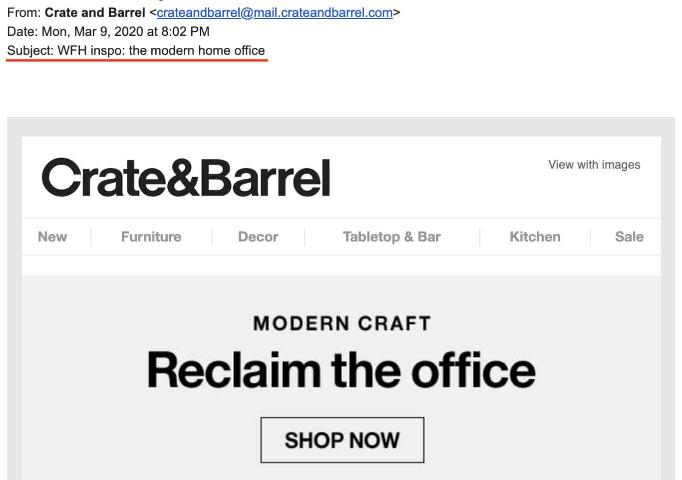 Crate&Barrel: Modern Craft - Reclaim the Office