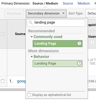 Step in using Google Analytics to monitor for content decay