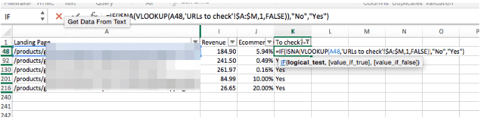 Using vlookup to compare two lists of product information on excel