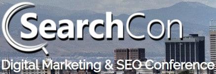 Logo: SearchCon. Digital Marketing & S E O Conference.