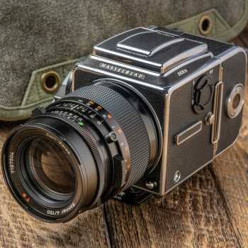A photograph of an older style camera.