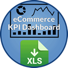 Icon: eCommerce K P I Dashboard. X L S download.
