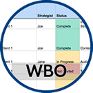 Icon: Work Breakout Template.