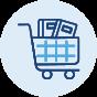 Icon: Checkout page sales.