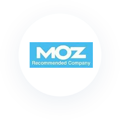 Icon: Moz Recommended Company.