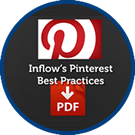Icon: Inflow's Pinterest Best Practices. P D F download.