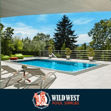 Logo: Wild West Pool Supplies.